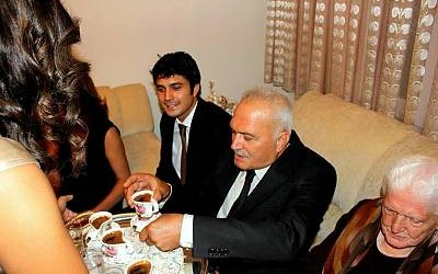 Turkish coffee being served at home