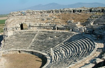 Theatre of the ancient city of Miletus, near Ephesus, Turkey