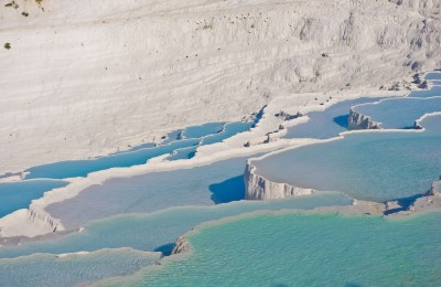 Travertines (calcium pools) in Pamukkale, Turkey