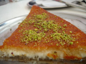 Turkish cheese pastry dessert kunefe