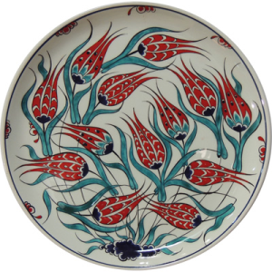 Iznik plate with tulip design
